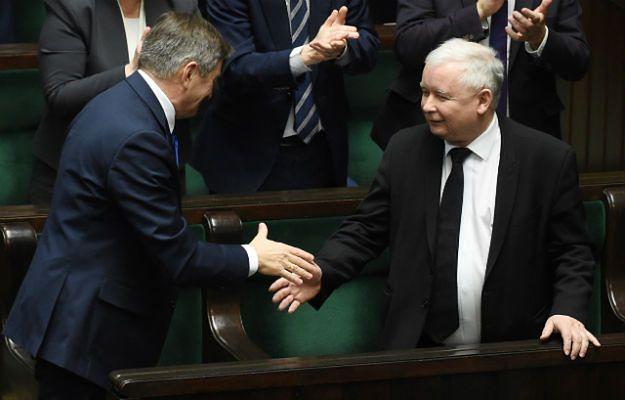 Jarosław Kaczyński i Marek Kuchciński
