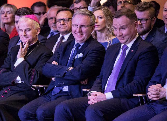 Spotkanie polityków ze sportowcami na PGE Narodowym z okazji 100. rocznicy odzyskania przez Polskę niepodległości.