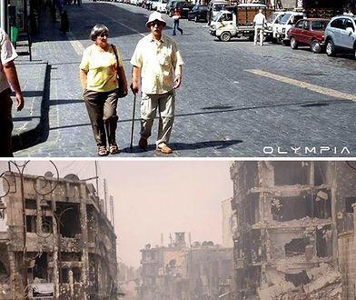 """Aleppo """"przed i po"""". Co wojna zrobiła z pewnym pięknym miastem"""