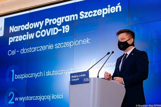 Szczepienia w Polsce. Szef KPRM Michał Dworczyk