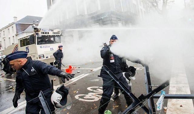 Zamieszki podczas protestu