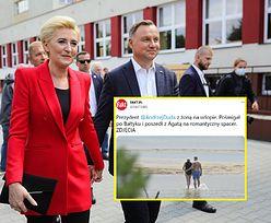 Andrzej Duda z żoną na urlopie w Juracie. Romantyczne chwile nad Bałtykiem