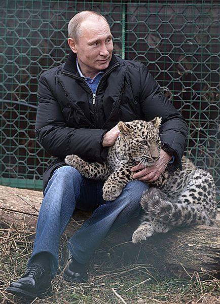 """Dziki """"Grom"""" na kolanach Putina - zdjęcia"""
