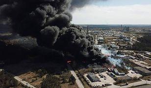 Sitkówka-Nowiny. Płonął skład odpadów chemicznych