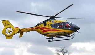 Na miejscu wypadku pojawił się helikopter Lotniczego Pogotowia Ratunkowego