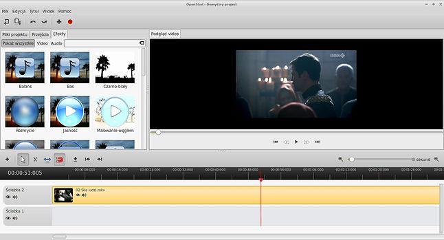OpenShot Video Editor - prosty w obsłudze edytor plików wideo.