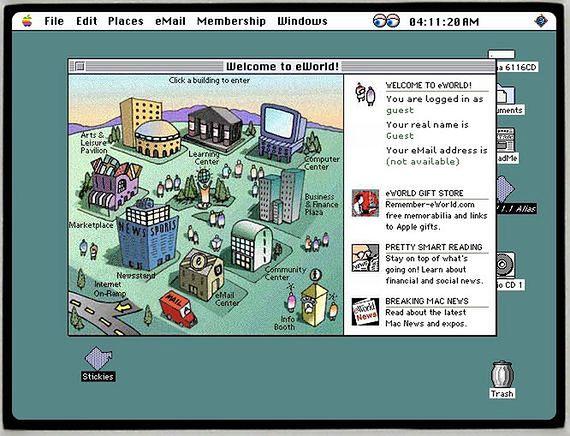 eWorld uruchomiony na PowerMac 61xx