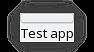 Z pamiętnika z życia programisty FLOSS: Nowe/stare spojrzenie na GUI - Okno główne programu demonstracyjnego, z widoczną naszą kontrolką, która obecnie składa się jedynie z panelu odkrywającego menu zarządzania panelami