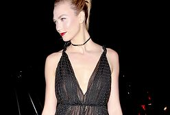 Karlie Kloss w seksownych groszkach Diora