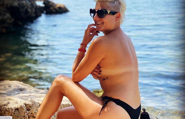 Magdalena Narożna na wakacjach z partnerem.