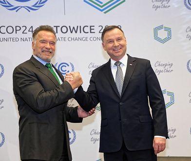 Arnold Schwarzenegger i Andrzej Duda rozmawiali w Katowicach