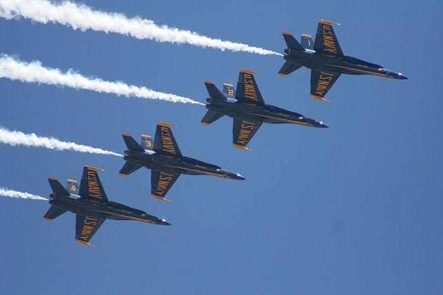Myśliwce F/A-18C w eskadrze Blue Angels