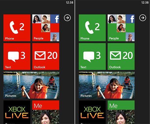 Ekran startowy z Windows Phone 7.0