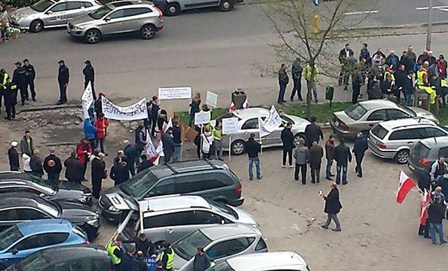Manifestacja w sprawie obrony energetyki wiatrowej