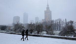 Warszawa. Stolica cała na biało. Sypnęło śniegiem [ZDJĘCIA]