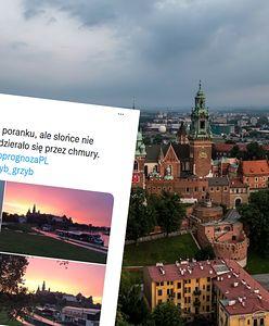 Niezwykły wschód słońca w Krakowie. Są zdjęcia