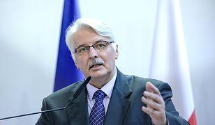 Witold Waszczykowski: Maria Szonert-Binienda de facto nie sprawuje dzisiaj funkcji konsula