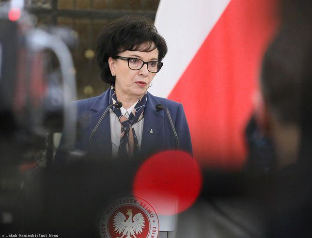 Marian Banaś na Wiejskiej. Marszałek Sejmu Elżbieta Witek