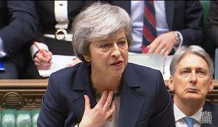 Theresa May podczas przemówienia w Izbie Gmin