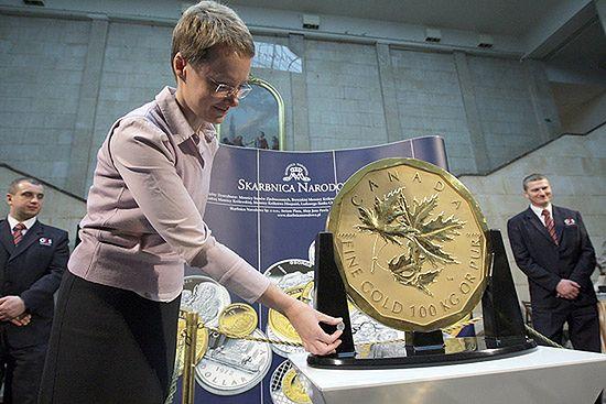 Moneta za 2,5 mln euro w Warszawie - zobacz zdjęcia