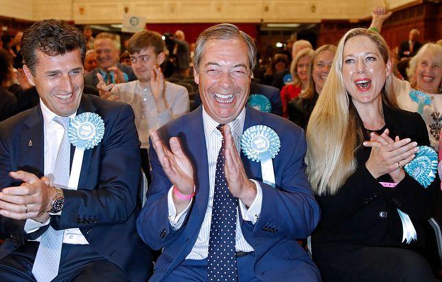Nigel Farage świętuje sukces w wyborach do Parlamentu Europejskiego