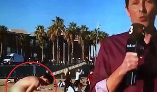 Wpadka w hiszpańskiej telewizji. Przez przypadek pokazali gołego plażowicza