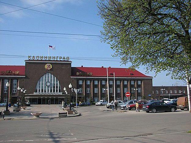 Główna stacja kolejowa w Kaliningradzie