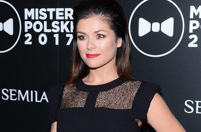 Katarzyna Cichopek na gali Mister Polski 2017