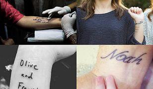Wzory tatuaży z imionami dzieci