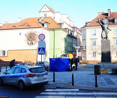 Warszawa. Interwencja policji na Starym Mieście we wtorek 14 stycznia 2020 r.