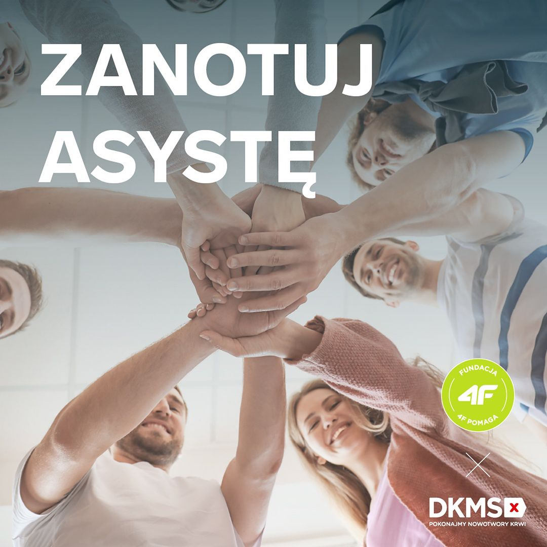 """""""Zanotuj asystę"""", czyli Fundacja 4F Pomaga we współpracy z Fundacją DKMS"""