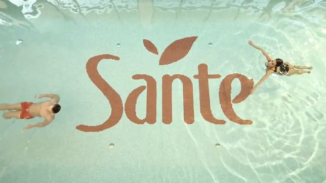 Fragment reklamy studia Sante
