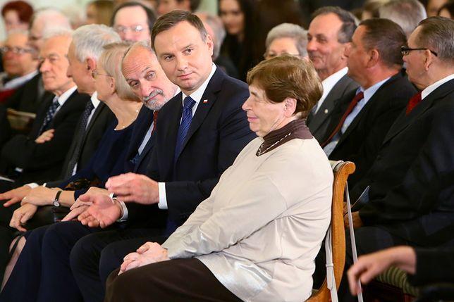 Prezydent Andrzej Duda i Zofia Romaszewska