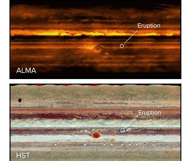 Zdjęcia z radioteleskopu Atacama Large Millimeter Array oraz Kosmicznego Teleskopu Hubble'a