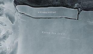 Góra lodowa oderwała się od Antarktydy. Jest większa niż Majorka