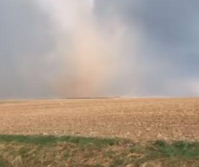 Tornado szkwałowe na Opolszczyźnie. Unosiło pył i piasek, mogło zrywać dachy