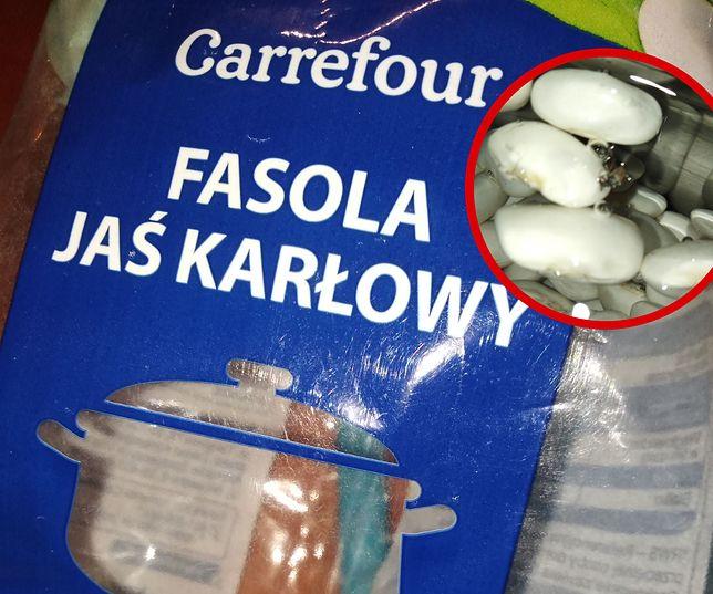 Robaki w fasoli z sieci Carrefour. Sklep wycofuje całą partię