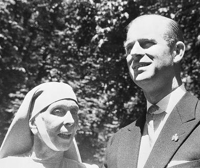 Księżna Alicja z synem Filipem, zdjęcie zrobiono w 1957 r.