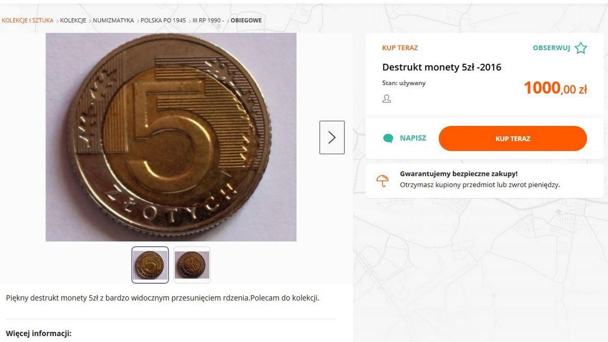 Fabrycznie uszkodzone monety mogą być naprawdę sporo warte