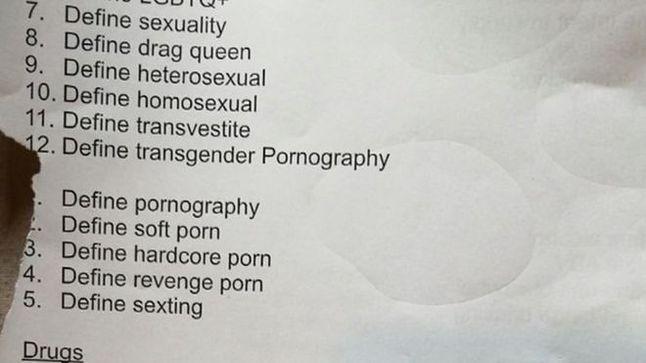 Fragment spornego zadania domowego, fot. BBC