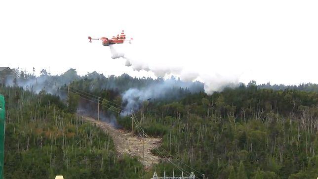 Pożar w Kanadzie gasił specjalny bombowiec wodny