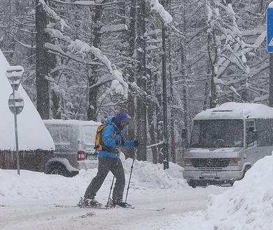 Opady śniegu w Zakopanem