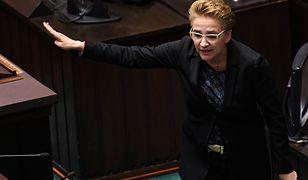 Sejm. Joanna Scheuring-Wielgus krytykuje Sławomira Nitrasa