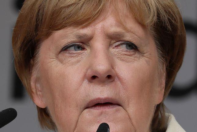 Kanclerz Angela Merkel podczas wiecu w Quedlinburgu we wschodnich Niemczech