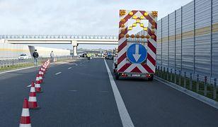 Wypadek na autostradzie A1. Utrudnienia na trasie
