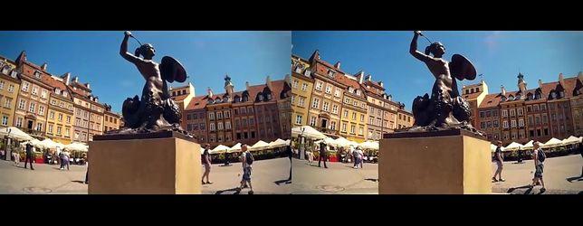 Wideo z Warszawą w tle: Stolica w 3D VR