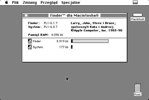Teraz już wiecie o kim mowa, gdy w Mac OS 6.0.8 PL pukniemy w informacje o używanym Macintoshu.