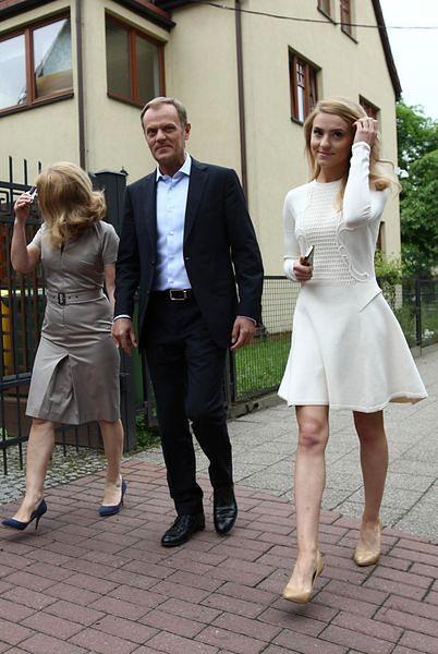 Kasia Tusk z rodzicami