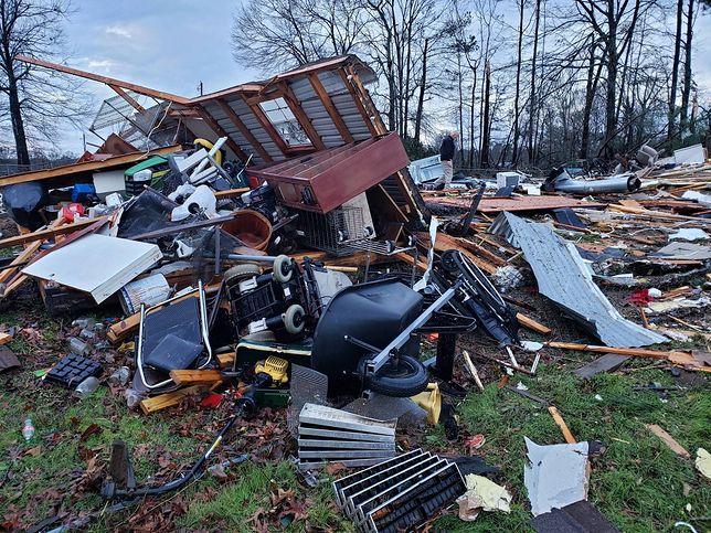 USA. Wichury, nawałnice i tornada na południu kraju. Co najmniej 11 osób nie żyje