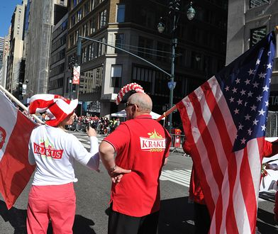 Zniesienie wiz do USA wywołało wielką radość w Mońkach. Z tego niewielkiego miasta emigrowało  ponad 2 tys. osób. Na fot. Pulaski Day Parade w Nowym Jorku.